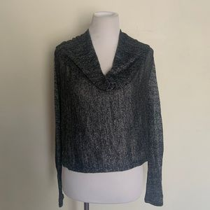 Poof Medium Cowl Neck Long Sleeved Top